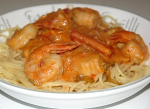 Seafood and espelette chili sauce