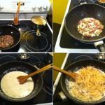 Pâtes crémeuses à l'ail et au Prosciutto étapes 2