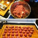 Sauce de boulettes aux grains du paradis étapes 1