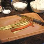 Étape 2 de la recette de biscuits fraises et rhubarbe