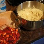 Étape 4 de la recette de biscuits fraises et rhubarbe