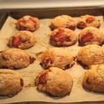 Étape 8 de la recette de biscuits fraises et rhubarbe