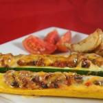 Barquettes de zucchini à la mexicaine