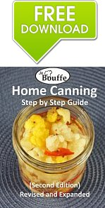 Learn how to can food with the Free Download JeBouffe Home Canning step by step